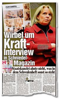 Wirbel um Kraft-Interview in Schniedel-Magazin