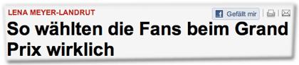 Lena Meyer-Landrut: So wählten die Fans beim Grand Prix wirklich