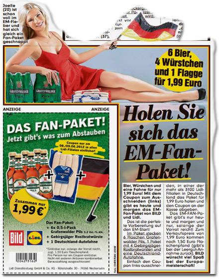 6 Bier, 4 Würstchen, 1 Flagge für 1,99 Euro: Holen Sie sich das EM-Fan-Paket!