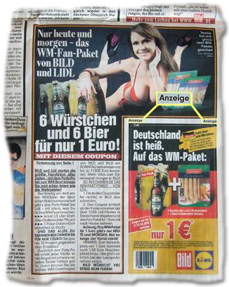 6 Würstchen und 6 Bier für nur 1 Euro! Mit diesem Coupon. [...] Anzeige