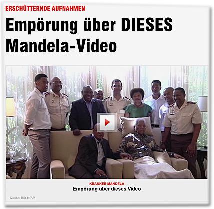 ERSCHÜTTERNDE AUFNAHMEN: Empörung über DIESES Mandela-Video