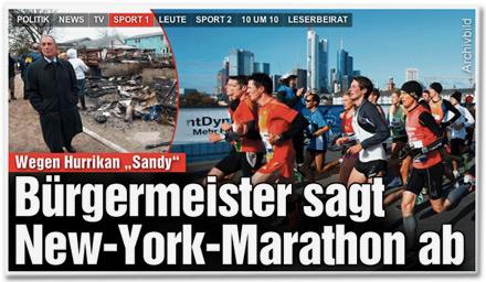 New-York-Marathon abgesagt