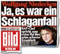 Wolfgang Niedecken: Ja, es war ein Schlaganfall