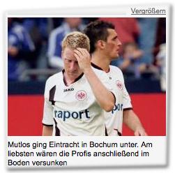 Mutlos ging Eintracht in Bochum unter. Am liebsten wären die Profis anschließend im Boden versunken