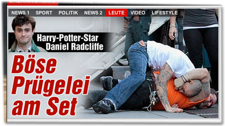 Daniel Radcliffe: Böse Prügelei am Set!