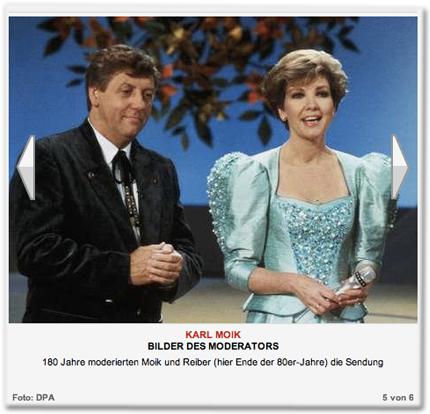 180 Jahre moderierten Moik und Reiber (hier Ende der 80er-Jahre) die Sendung
