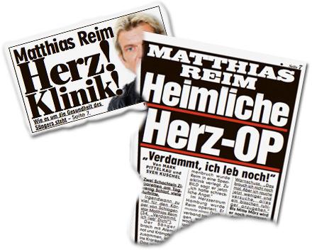 Matthias Reim: Herz! Klinik! Heimliche Herz-OP