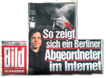 So zeigt sich ein Berliner Abgeordneter im Internet