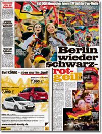 Berlin wieder schwarz-rot-geil