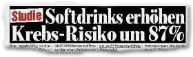 Studie: Softdrinks erhöhen Krebs-Risiko um 87%