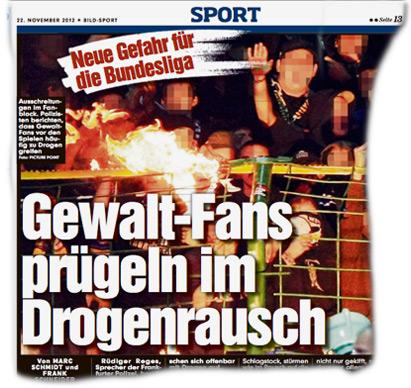 Gewalt-Fans prügeln im Drogen-Rausch