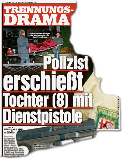 Polizist erschießt Tochter (8) mit Dienstpistole