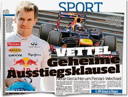 Vettel: Geheime Ausstiegsklausel