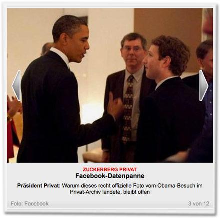 Präsident Privat: Warum dieses recht offizielle Foto vom Obama-Besuch im Privat-Archiv landete, bleibt offen