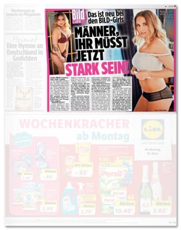 Ausriss Bild-Zeitung - Das ist neu bei den Bild-Girls - Männer, ihr müsst jetzt ganz stark sein!