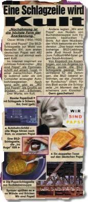 """""""Eine Schlagzeile wird Kult"""""""