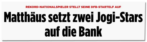 Screenshot Bild.de - Rekord-Nationalspieler stellt seine DFB-Startelf auf - Matthäus setzt zwei Jogi-Stars auf die Bank