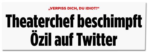 Screenshot Bild.de - Verpiss dich du Idiot - Theaterchef beschimpft Özil auf Twitter