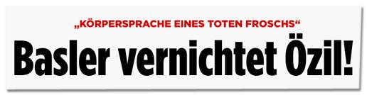 Screenshot Bild.de - Körpersprache eines toten Froschs - Basler vernichtet Özil!