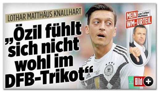 Screenshot Bild.de - Lothar Matthäus knallhart: Özil fühlt sich nicht wohl im DFB-Trikot
