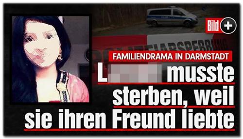 Screenshot Bild.de - Familiendrama in Darmstadt - L. musste sterben, weil sie ihren Freund liebte