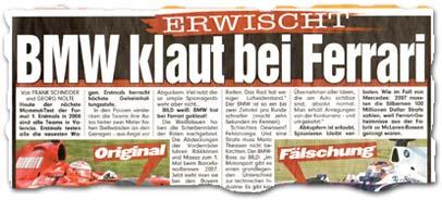 """""""Erwischt: BMW klaut bei Ferrari"""""""