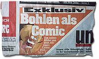 Exklusiv: Bohlen als Comic