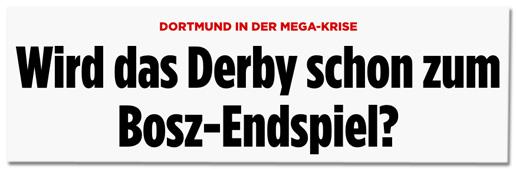 Screenshot Bild.de - Dortmund in der Mega-Krise - Wird das Derby schon zum Bosz-Endspiel?