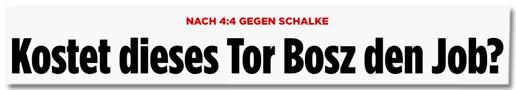 Screenshot Bild.de - Nach 4:4 gegen Schalke - Kostet dieses Tor Bosz den Job?