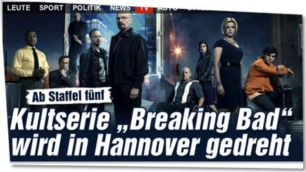 "Ab Staffel fünf: Kultserie ""Breaking Bad"" wird in Hannover gedreht"