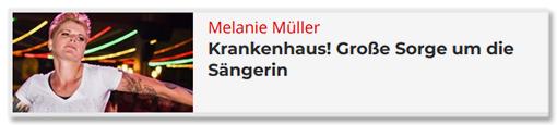 Melanie Müller - Krankenhaus! Große Sorge um die Sängerin