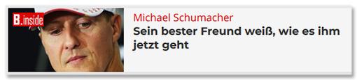Michael Schumacher - Sein bester Freund weiß, wie es ihm jetzt geht