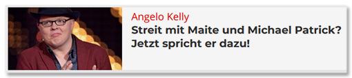 Angelo Kelly - Streit mit Maite und Michael Patrick? Jetzt spricht er dazu!