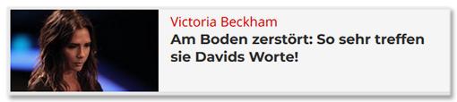 Victoria Beckham - Am Boden zerstört: So sehr treffen sie Davids Worte!