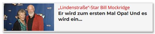 """""""Lindenstraße""""-Star Bill Mockridge - Er wird zum ersten Mal Opa! Und es wird ein ..."""