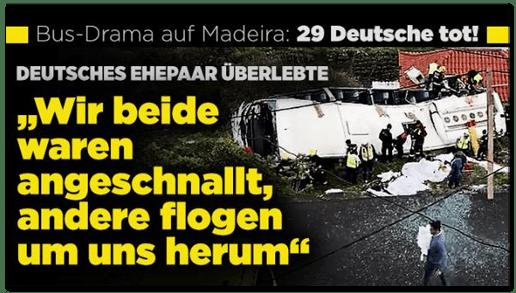 Screenshot Bild.de - Deutsches Ehepaar überlebte - Wir beide waren angeschnallt, andere flogen um uns herum