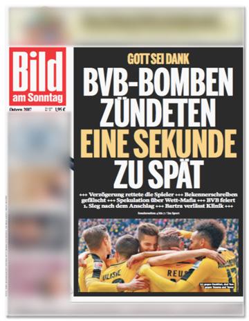 Gott sei Dank -BVB-Bomben zündeten eine Sekunde zu spät