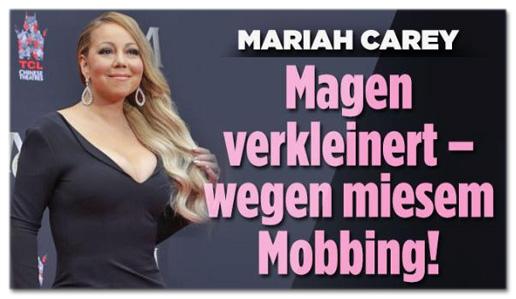 Screenshot Bild.de - Mariah Carey - Magen verkleinert - wegen miesem Mobbing