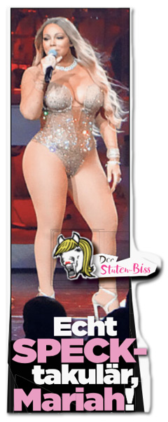 Ausriss Bild-Zeitung - Carey im Glitzer-Fummel - Echt SPECK-takulär, Mariah!