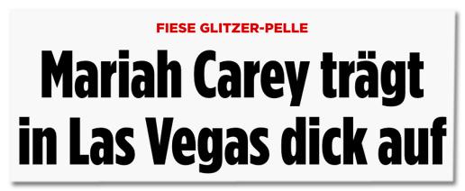 Screenshot Bild.de - Fiese Glitzer-Pelle - Mariah Carey trägt in Las Vegas dick auf