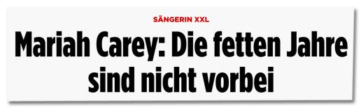 Screenshot Bild.de - Sängerin XXL - Mariah Carey: Die fetten Jahre sind nicht vorbei