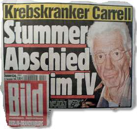 Krebskranker Carrell: Stummer Abschied im TV