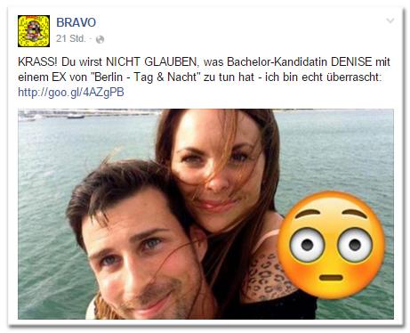 KRASS! Du wirst NICHT GLAUBEN, was Bachelor-Kandidatin DENISE mit einem EX von 'Berlin - Tag&Nacht' zu tun hat - ich bin echt überrascht