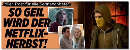 Screenshot Bild.de - Trost für alle Sonnenanbeter - So geil wird der Netflix-Herbst