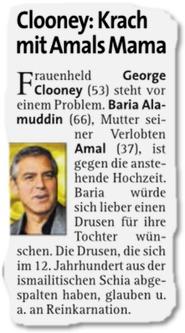 Clooney: Krach mit Amals Mama