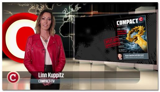 Screenshot eines Compact-Videos - Moderatorin laut Bauchbinde: Linn Kuppitz