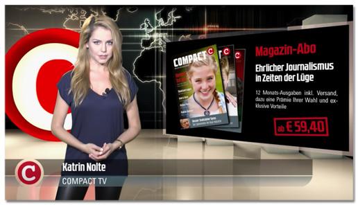 Screenshot eines Compact-Videos - Moderatorin laut Bauchbinde: Katrin Nolte