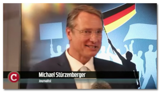 Screenshot Compact-Video - Bauchbinde: Michael Stürzenberger, Journalist