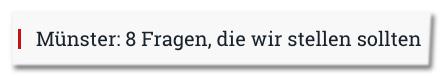 Screenshot Compact - Münster: 8 Fragen, die wir stellen sollten