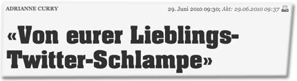 """Adrianne Curry: """"Von eurer Lieblings-Twitter-Schlampe"""""""